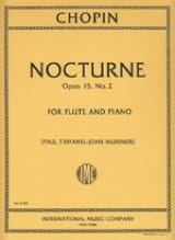 CHOPIN - Nocturne op. 15 n ° 2 - Flute and piano - Sheet Music - di-arezzo.co.uk