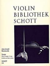 Jean-Joseph (Cassanea de) Mondonville - Sonate en ut majeur op.1 n° 4 - Partition - di-arezzo.fr