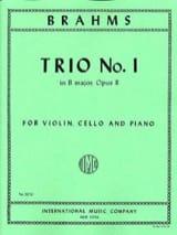 Trio n° 1 B major op. 8 -Parts BRAHMS Partition laflutedepan.com