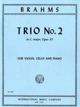 Trio n° 2 C major op. 87 -Parts BRAHMS Partition laflutedepan.com