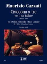 Maurizio Cazzati - Ciaccona a tre con il suo balletto –Parties + conducteur - Partition - di-arezzo.fr