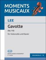Gavotte op. 112 Sebastian Lee Partition Violoncelle - laflutedepan.com