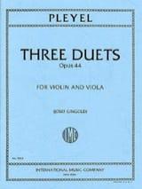 Ignaz Pleyel - 3 Duets op. 44 - Partition - di-arezzo.fr