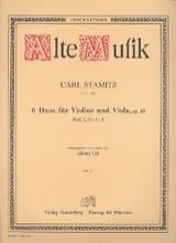 Carl Stamitz - 6 dúos para violín y viola op. 18 - Heft 1 No 1-3 - Partitura - di-arezzo.es