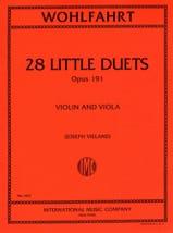 28 Little duets op.191 Robert Wohlfahrt Partition laflutedepan.com