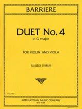 Duet n° 4 in G major Jean Barrière Partition Duos - laflutedepan.com
