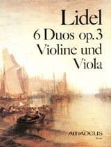 6 Duos op. 3 - Violine und Viola Andreas Lidel Partition laflutedepan