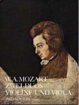 Wolfgang Amadeus Mozart - 2 Duos für Violine und Viola KV 423, 424 - Partition - di-arezzo.fr
