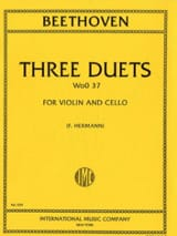 BEETHOVEN - 3 Duets WoO 37 - Violin Cello - Partition - di-arezzo.fr