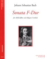 Johann Sebastian Bach - Sonata F-Dur – Altblockflöte - Partition - di-arezzo.fr