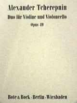 Duo op. 49 Alexandre Tcherepnine Partition Duos - laflutedepan.com