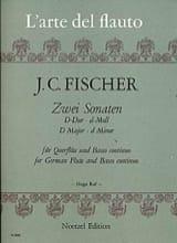 2 Sonaten - Flöte und Bc Johann Christian Fischer laflutedepan.com