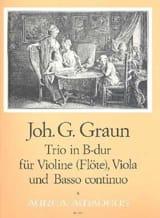 Johann Gottlieb Graun - Trio B-Dur –Violine Viola u. Bc - Partition - di-arezzo.fr