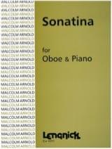 Sonatina - Oboe pianoforte Malcolm Arnold Partition laflutedepan.com