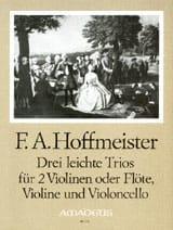 3 Leichte Trios -Stimmen Franz Anton Hoffmeister laflutedepan.com
