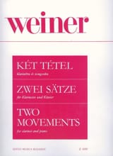 Leo Weiner - Two Movements - Clarinette et Piano - Partition - di-arezzo.fr