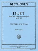 BEETHOVEN - Duet WoO 32 - Sheet Music - di-arezzo.co.uk