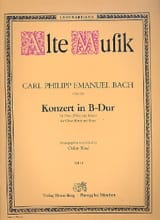 Carl Philipp Emanuel Bach - Konzert in B Hard - Oboe Flöte Klavier - Sheet Music - di-arezzo.co.uk