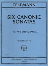 Georg Philipp Telemann - 6 Canonic Sonatas – 2 Double basses - Partition - di-arezzo.fr