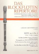 Suite op. 6 n° 4 en do majeur d'Hervelois Louis de Caix laflutedepan