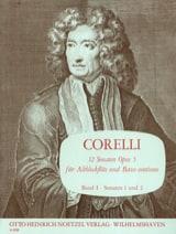 CORELLI - 12 Sonaten op. 5 - Bd. 1 - Altblockflöte u. Bc - Sheet Music - di-arezzo.co.uk