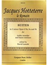Jacques (Le romain) Hotteterre - Suites In G Minor, Op. 2 N° 3a And 3b – Flute Bc - Partition - di-arezzo.fr