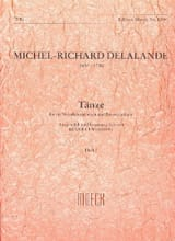 Michel-Richard Delalande - Tänze - Heft 1 - Partition - di-arezzo.fr
