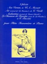 4 Pièces pour flûte traversière et piano Partition laflutedepan.com
