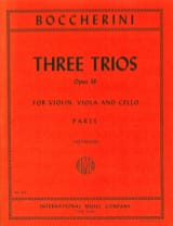 3 Trios op. 38 – Parts Luigi Boccherini Partition laflutedepan.com