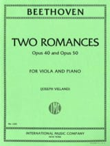 BEETHOVEN - 2 Romances op. 40 and op. 50 - Viola - Partition - di-arezzo.fr