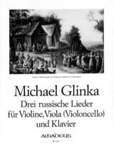 3 Russische Lieder Michail Glinka Partition Trios - laflutedepan.com