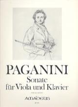 Niccolò Paganini - Sonate für Viola und Klavier - Partition - di-arezzo.fr
