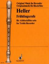 Frühlingsrufe Barbara Heller Partition Flûte à bec - laflutedepan.com