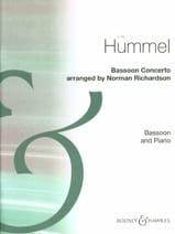 Concerto Pour Basson Johann Nepomuk Hummel Partition laflutedepan.com