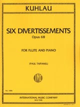 6 Divertissements op. 68 Friedrich Kuhlau Partition laflutedepan.com