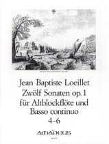 de Gant Jean Baptiste Loeillet - 12 Sonaten op. 1 - No. 4-6 - Altblockflöte u. bc - Partitura - di-arezzo.es