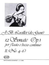 de Gant Jean Baptiste Loeillet - 12 Sonates op. 1 - Volume 2 : n° 4-6 – Flauto e BC - Partition - di-arezzo.fr