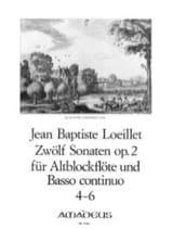 12 Sonaten op. 2 - n ° 4-6 - Altblockflöte u. Bc laflutedepan.com