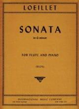 de Gant Jean Baptiste Loeillet - Sonata in G minor – Flute piano - Partition - di-arezzo.fr