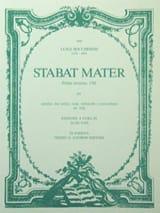 Stabat Mater – Partitura Luigi Boccherini Partition laflutedepan.com