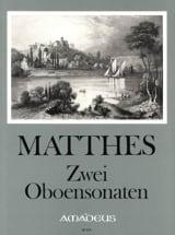 Carl Ludwig Matthes - 2 Oboensonaten - Partition - di-arezzo.fr