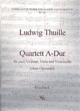 Quartett A-Dur –Partitur + Stimmen Ludwig Thuille laflutedepan.com