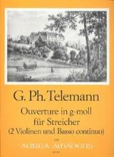 TELEMANN - Ouverture in g-moll für Streicher -2 Violinen u. Bc - Partition - di-arezzo.fr