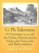 Georg Philipp Telemann - Triosonate Nr. 49 in g-moll –Violine Viola Bc - Partition - di-arezzo.fr