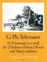 TELEMANN - Triosonate Nr. 82 a-moll -2 Violinen Flöten, Oboen Bc - Partition - di-arezzo.fr