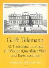 Georg Philipp Telemann - Triosonate Nr. 72 in h-moll –Violine Viola Bc - Partition - di-arezzo.fr