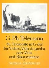 Georg Philipp Telemann - Triosonate Nr. 86 in G-Dur –Violine Viola Bc - Partition - di-arezzo.fr