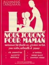 Alexandre Tansman - Nous jouons pour maman - n° 5 : Danse slave - Partition - di-arezzo.fr