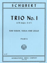 Trio n° 1 B flat major - Parts SCHUBERT Partition laflutedepan.com