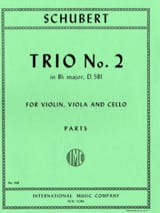 Trio n° 2 B flat major D. 581 - Parts SCHUBERT Partition laflutedepan
